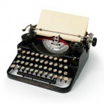 vintage typewriter in black